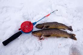 Isfiske på Lapphaugvannet