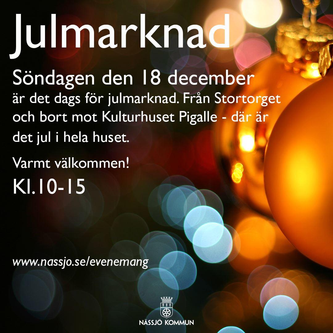 Julmarknad i Nässjö