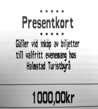 Evenemangspresentkort 1000:-
