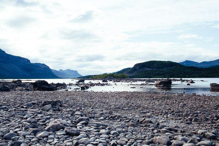 Sjöfallstur i Laponiafjällen