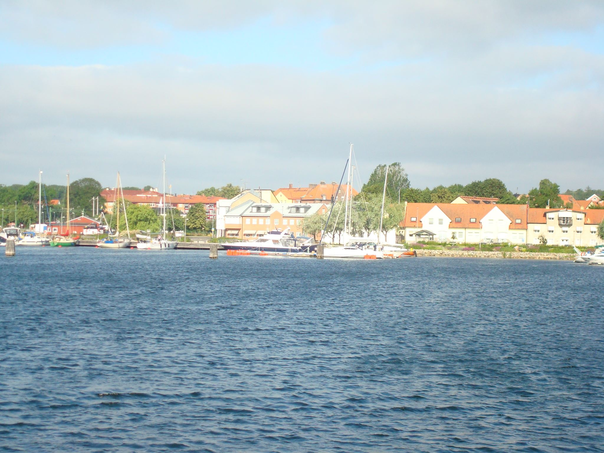 Guest harbour in central Sölvesborg
