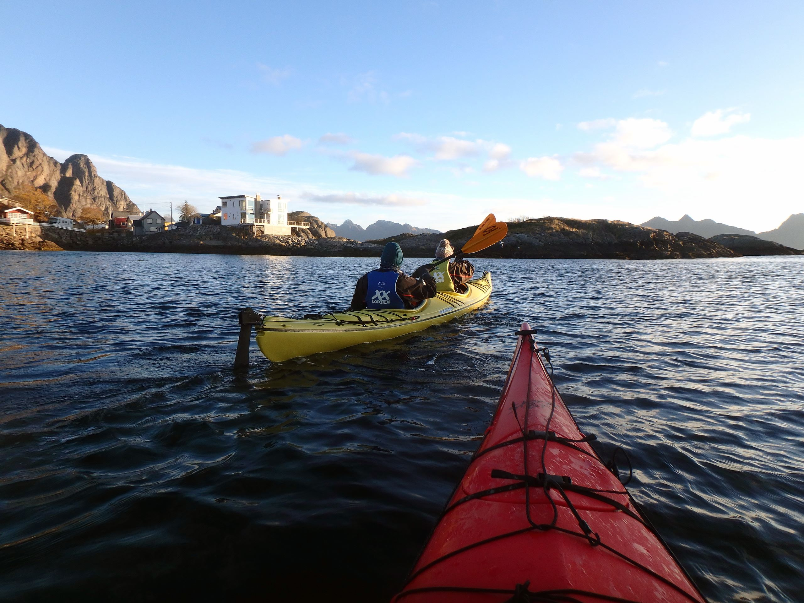 Winter kayaking from Svolvær harbour
