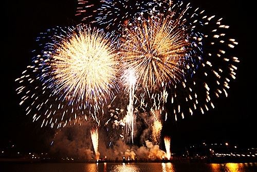 Fireworks at Miramar Park in Mariehamn