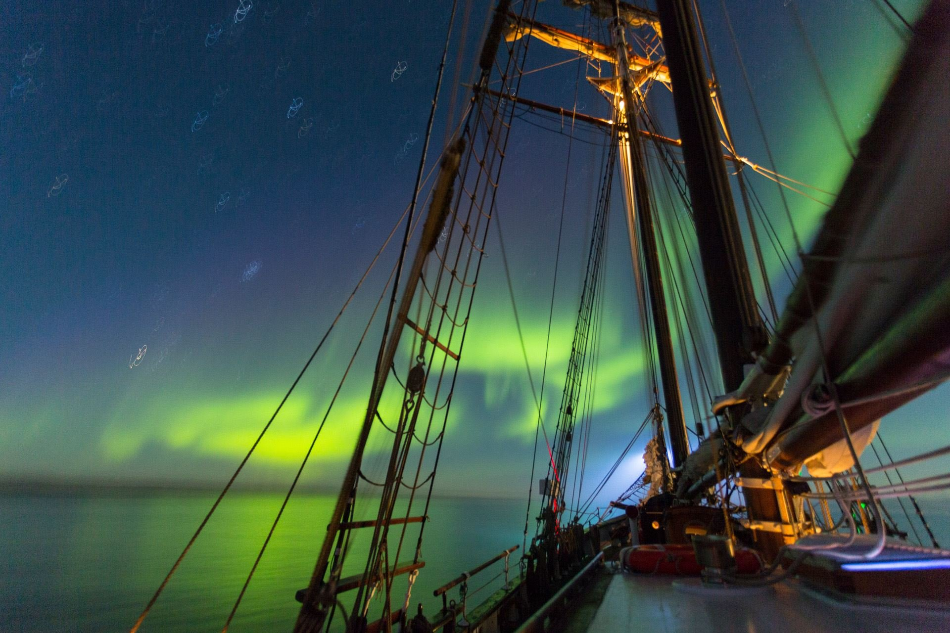 Silent whale exploring and Northern Lights - North Sailing Norway