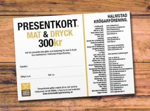 Halmstads Krögarförening – Presentkort