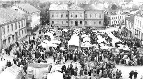© Vimmerby Kommuns bildarkiv, Marknad i Vimmerby