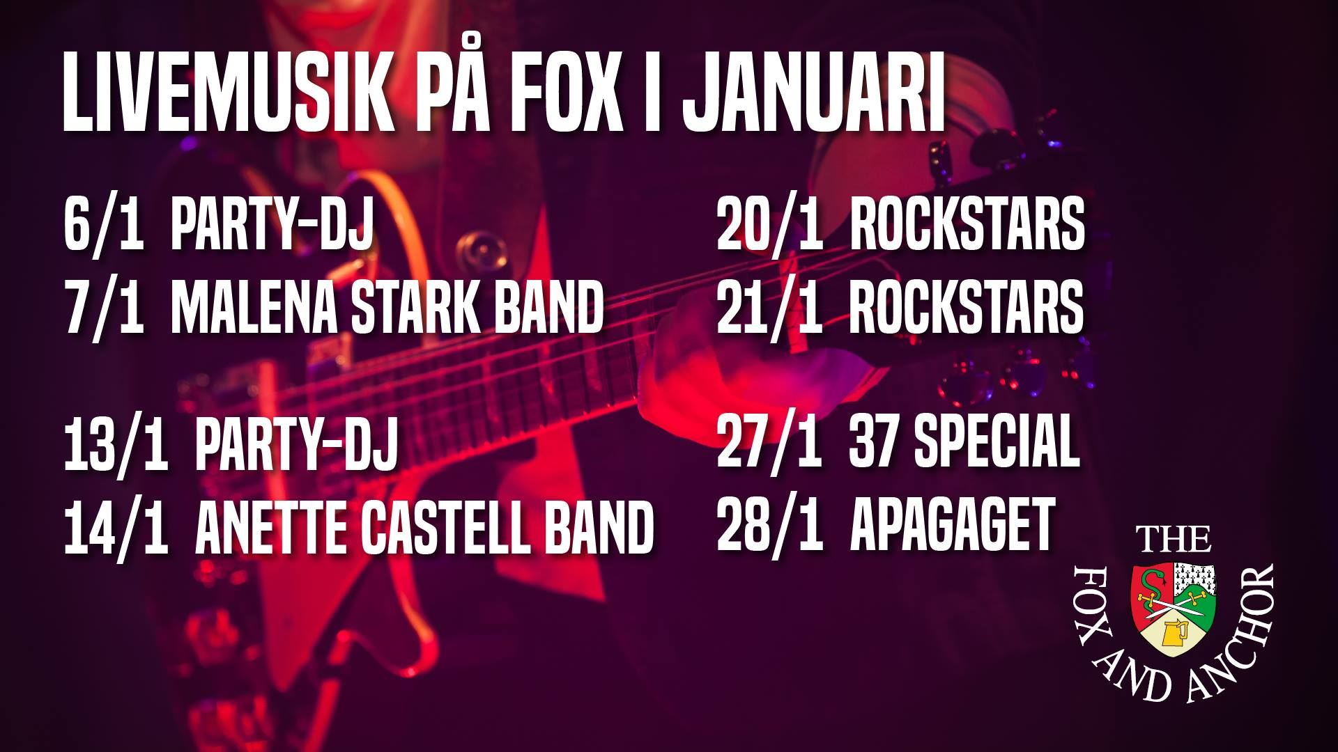 Livemusik på The Fox And Anchor
