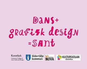 Dans + grafisk design = sant