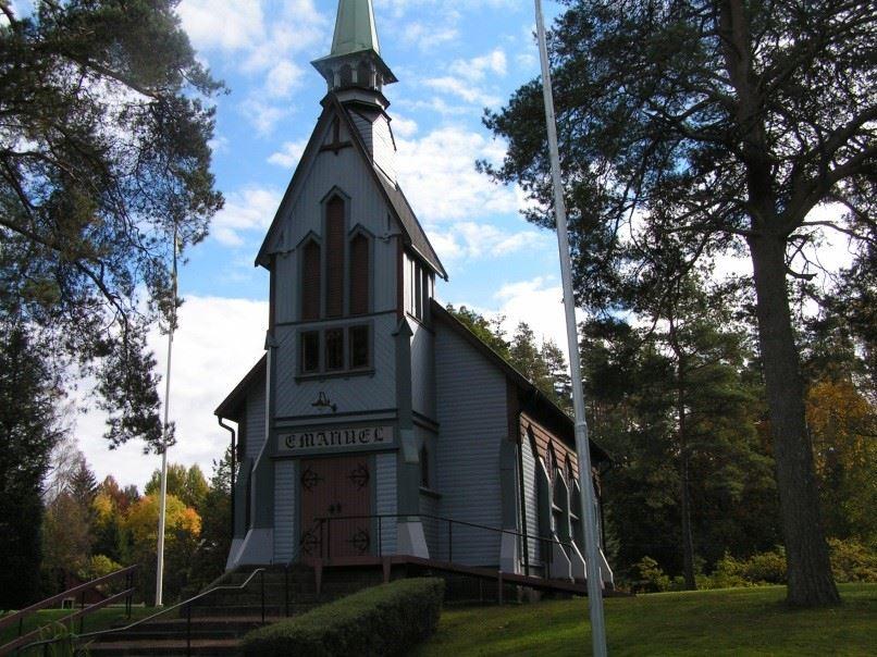 Emanuelskapellet i Ängaholmen nära Delary
