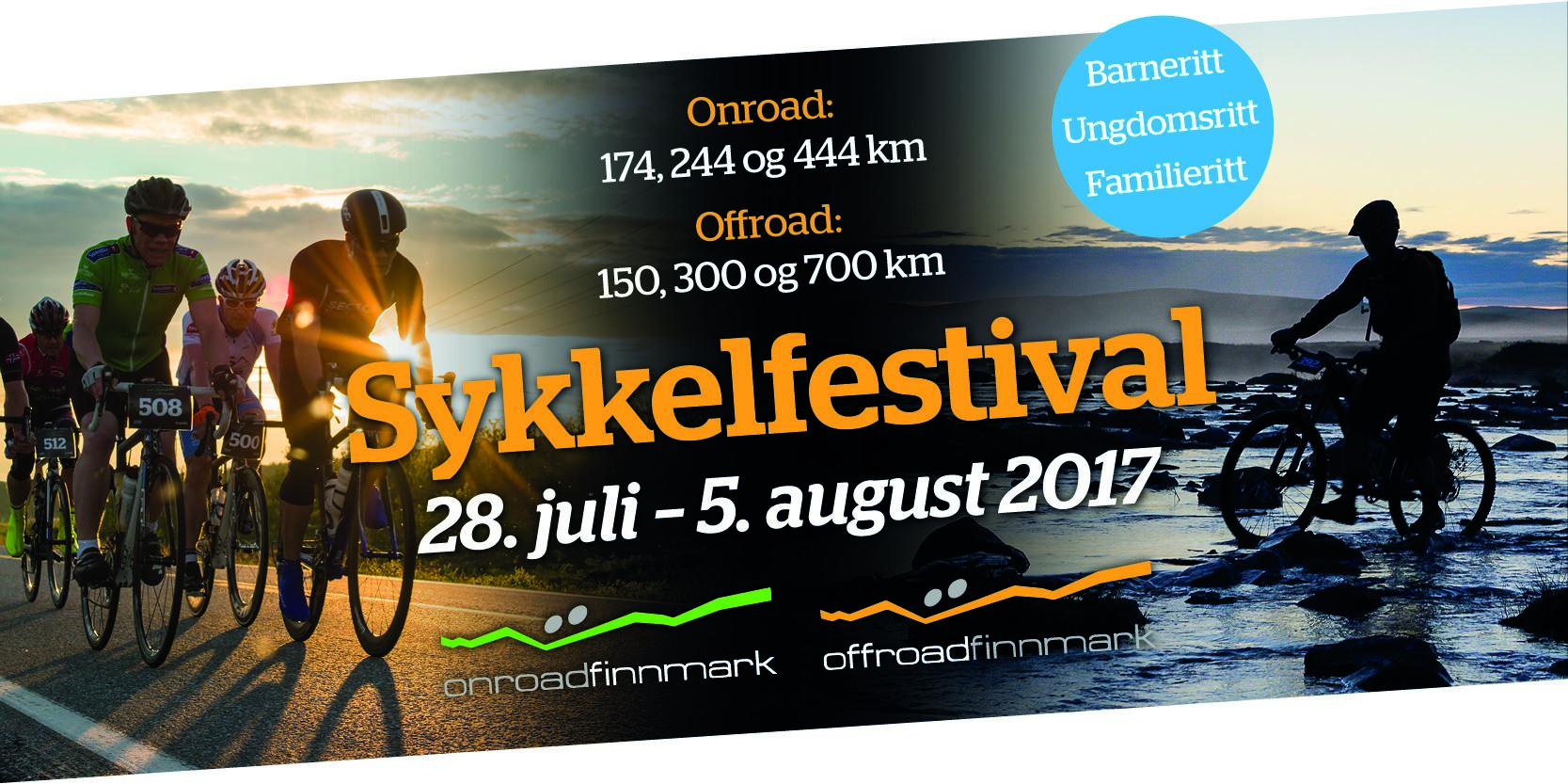 Bike festival Onroad and Offroad Finnmark 28th of July – 5th of August 2017