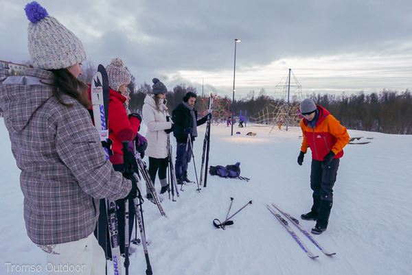 002. Guided cross country ski trip in Tromsø - beginner ski course