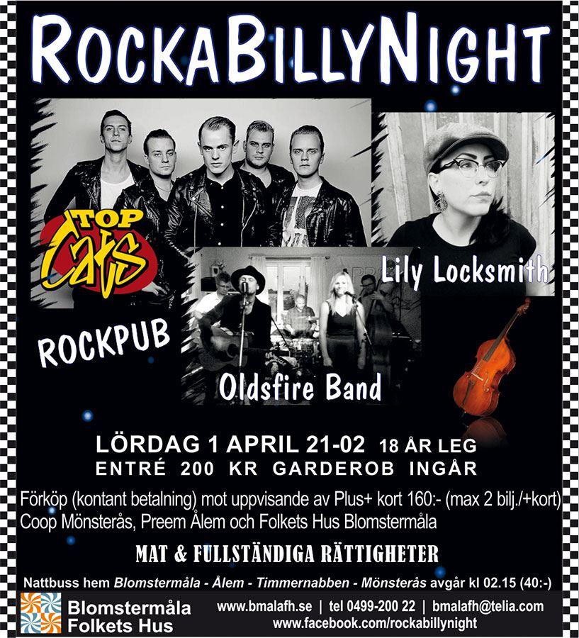 RockaBillynight i Blomstermåla Folkets hus