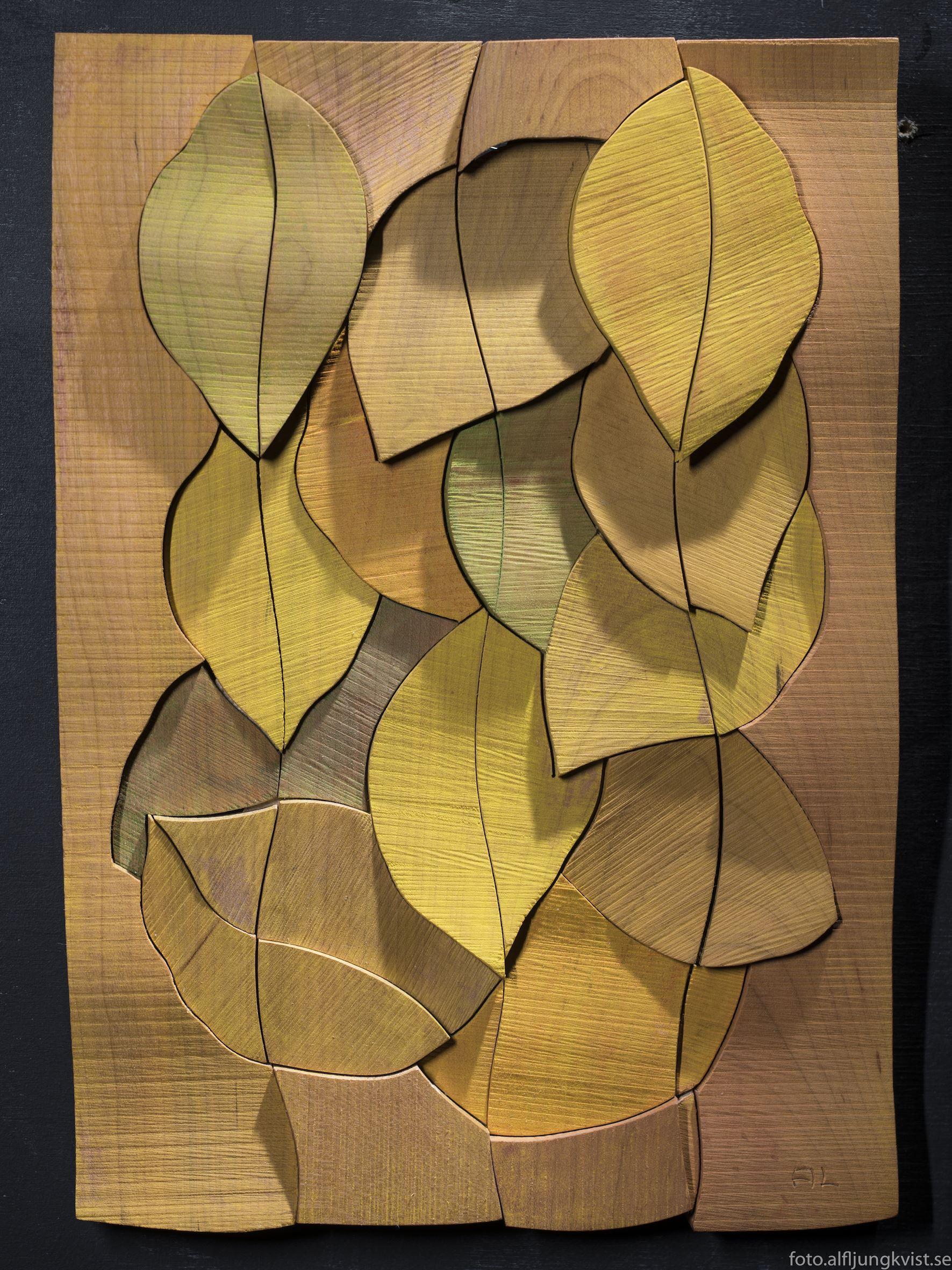 """""""Träreliefer"""", arbeten i trä av Alf Ljungkvist."""