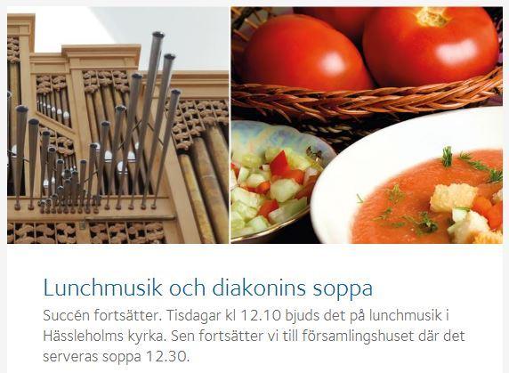 Lunchmusik och soppa