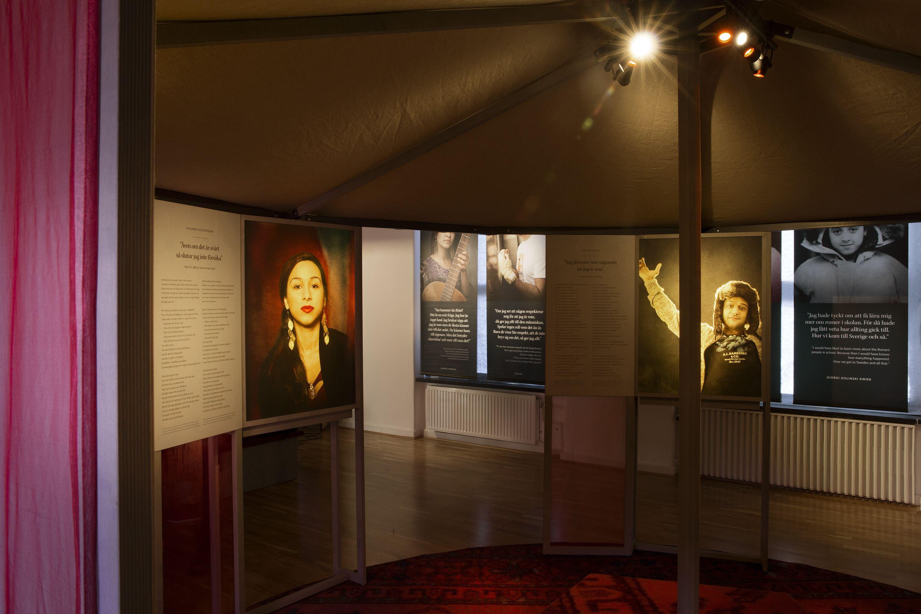 Öppen visning av utställningen Vi är romer