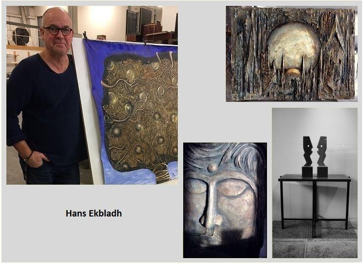 Utställning Hans Ekbladh, Cementobjekt och Måleri