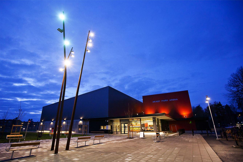Akrobatik på Araby Park Arena.
