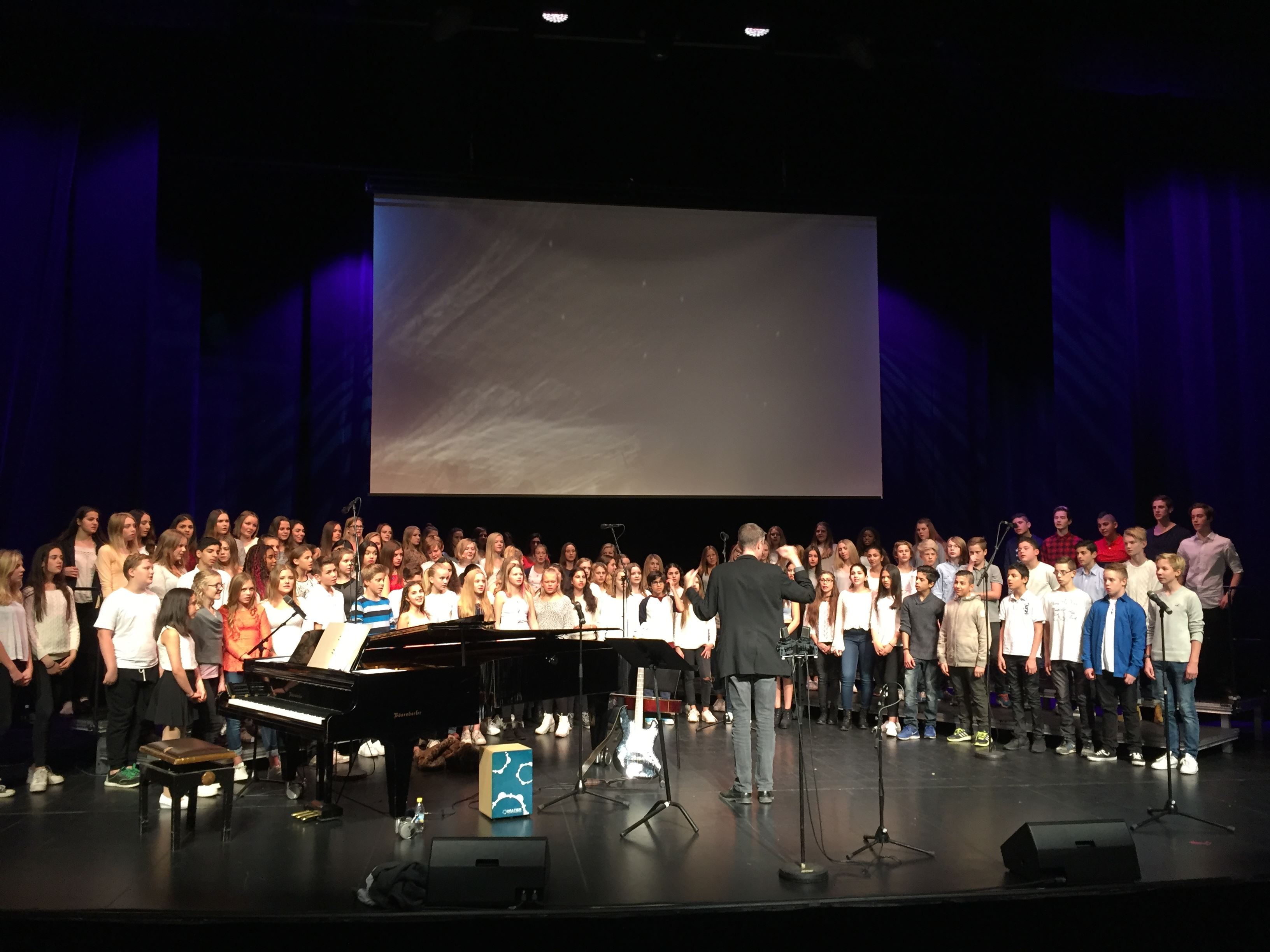 Vårkonsert på Hagaberg med Rosenborgsskolans musikklasser