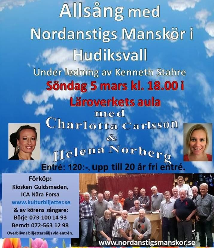 Allsång med Nordanstigs Manskör i Hudiksvall