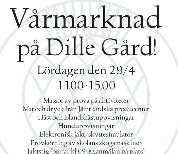 Vårmarknad på Dille Gård
