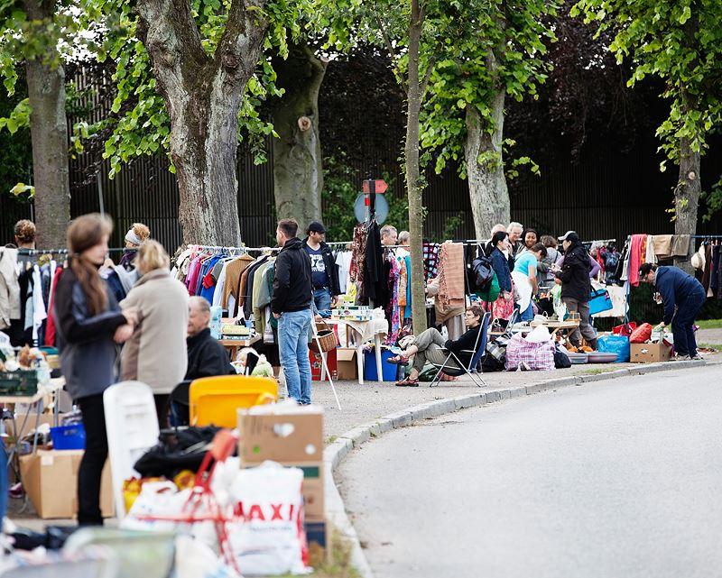 Flea market at Södra Esplanaden