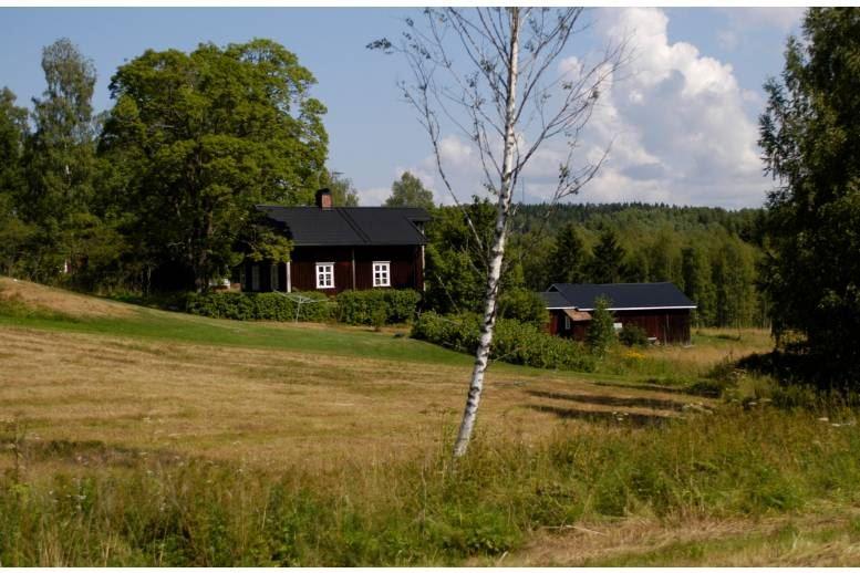 Åmotfors - Ett rum och sovrum på övervåning med TV och trådlös Wi-Fi.