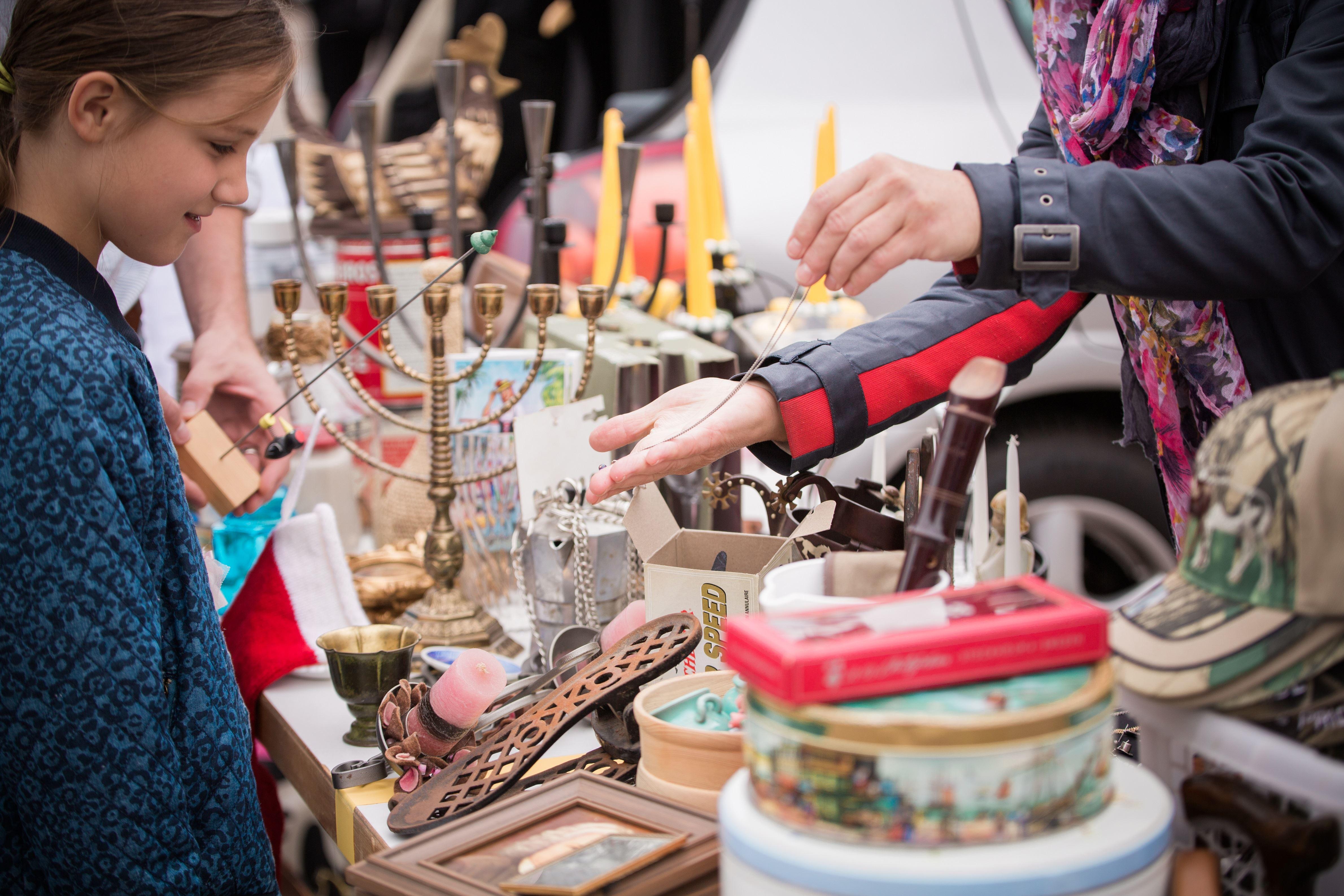 Flea market at Tingstorget