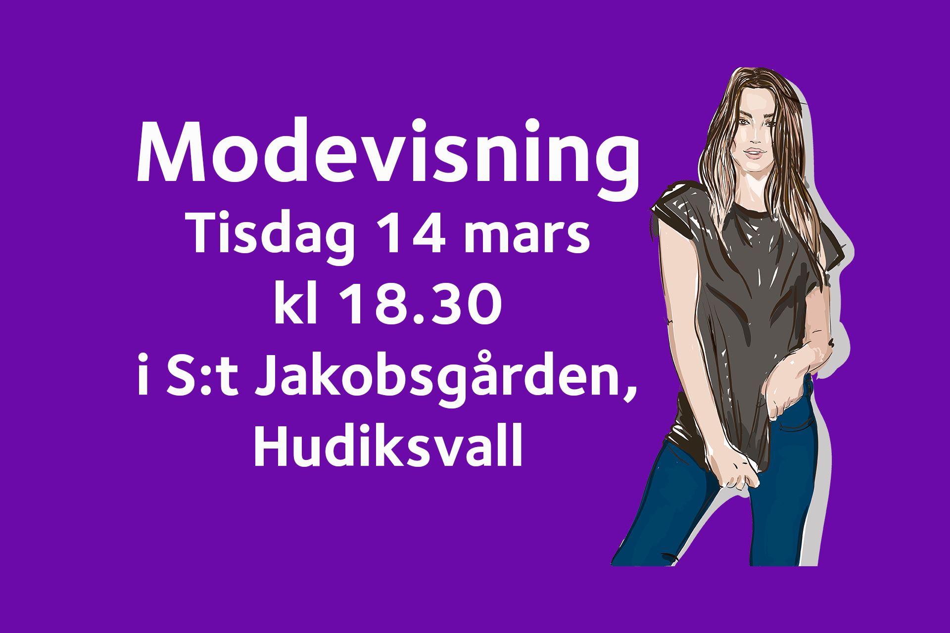 Modevisning i S:t Jakobsgården, Hudiksvall