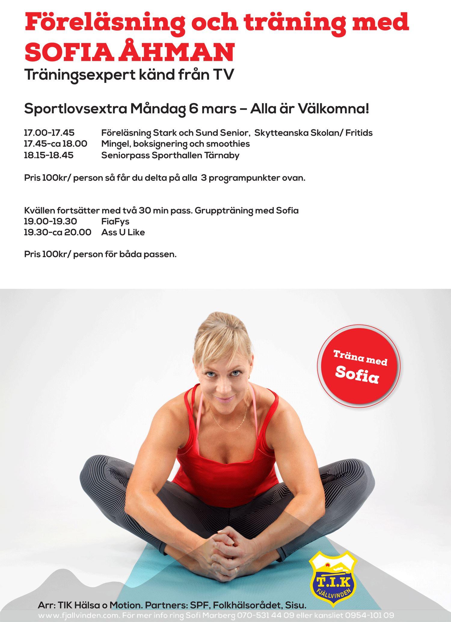 Föreläsning och träning med SOFIA ÅHMAN