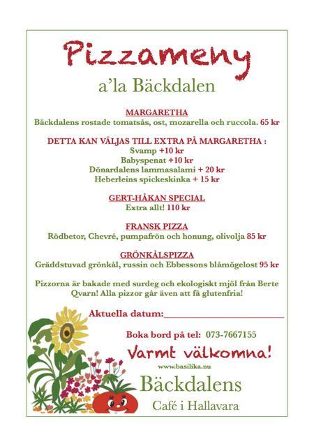 Pizzakväll på Bäckdalens handelsträdgård
