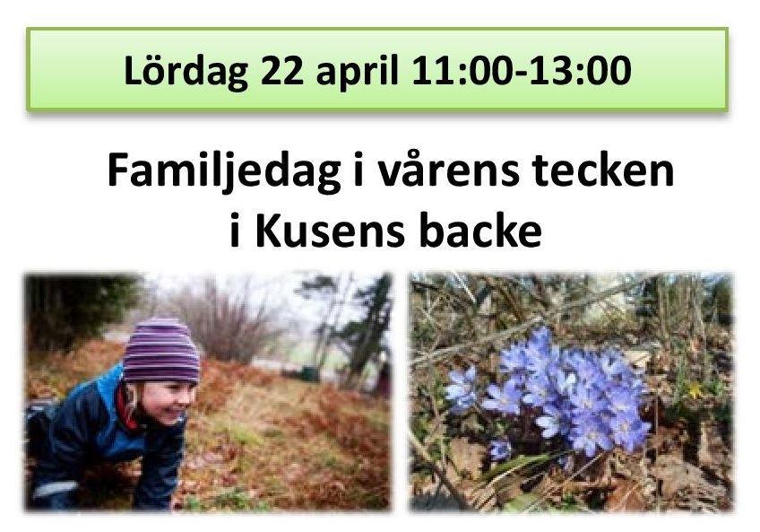 Familjedag i vårens tecken i Kusens backe