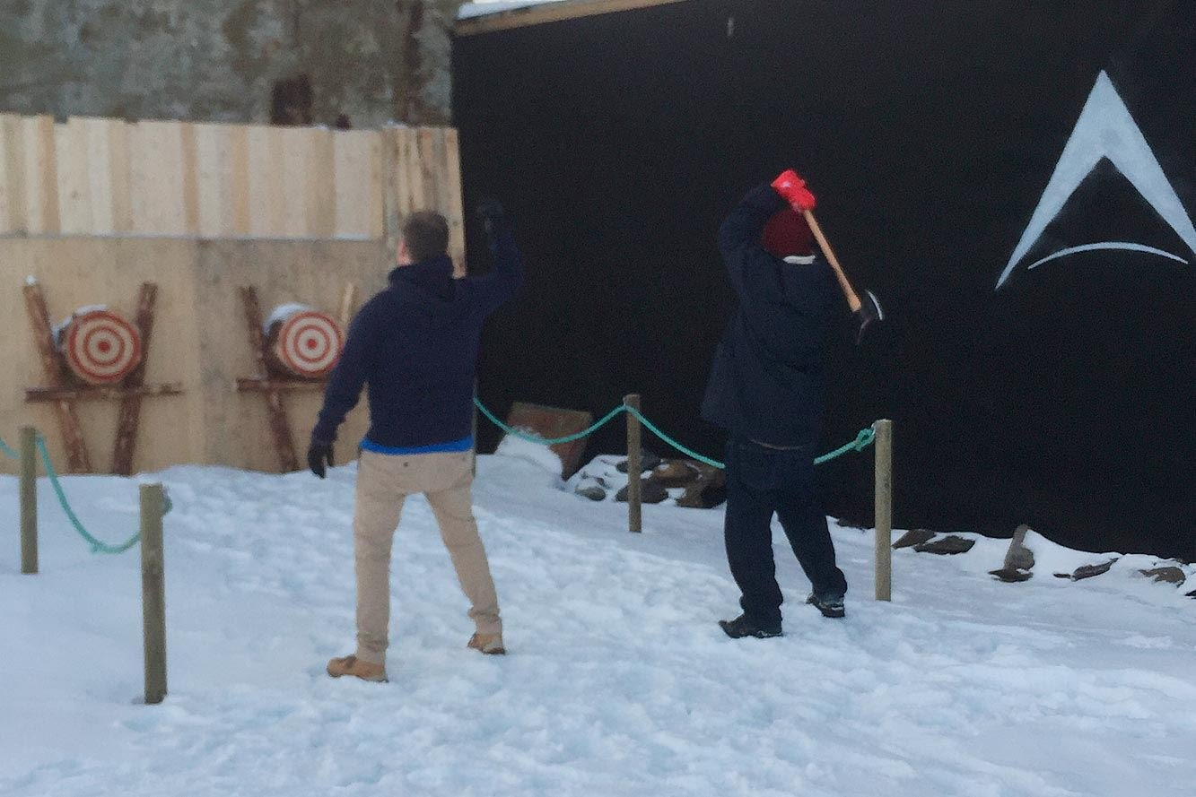 Arctic Axe throwing experience!