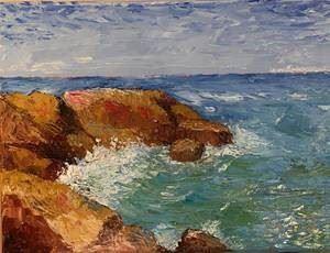 """Konstutställning: """"Åländska klippor och hav"""" av Leif Sundberg"""