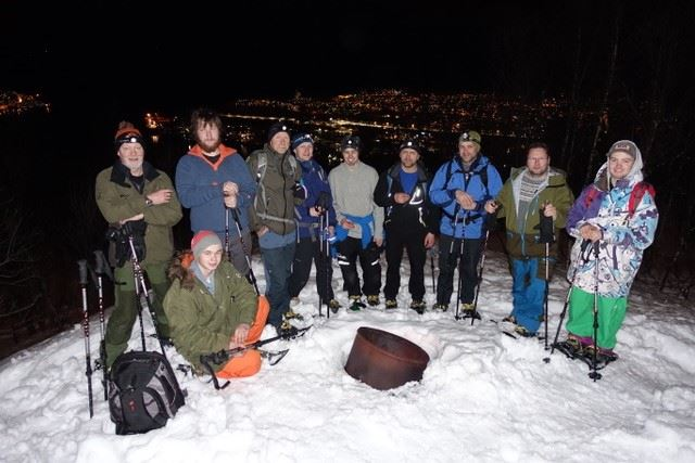Snowshoeing under the Arctic Lights