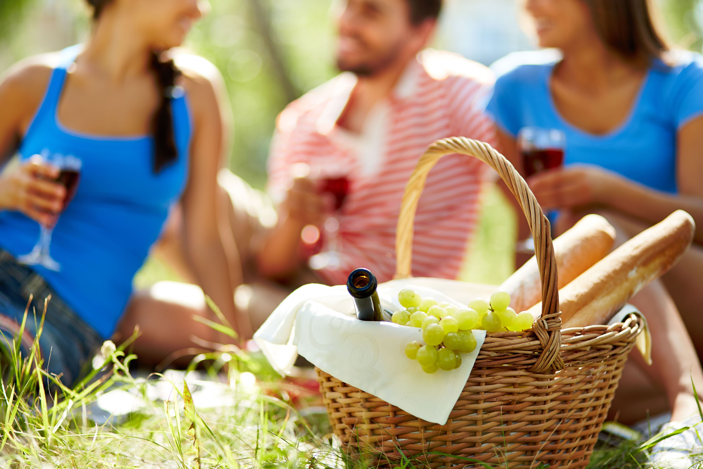 Delicious picnic basket