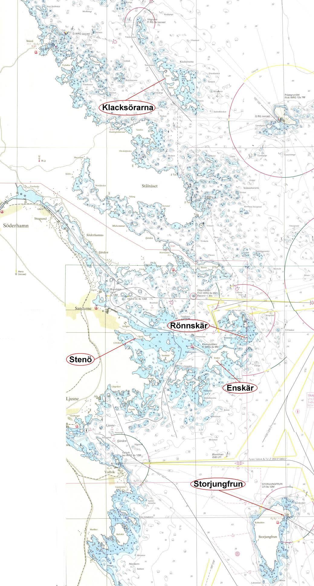 Sjökort av Söderhamns skärgård
