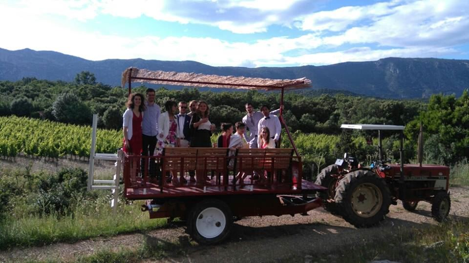 Tracto-tour at the Domaine de Brunet