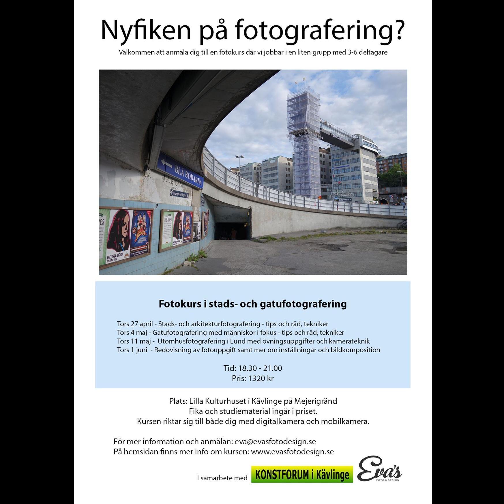 Fotokurs i stads- och gatufotografering