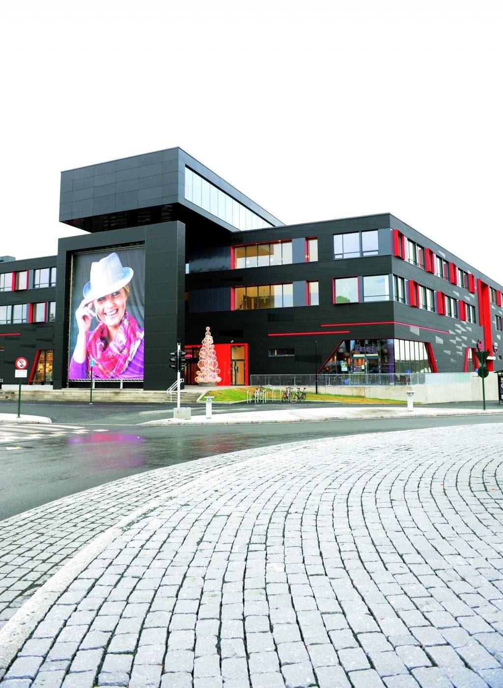 Sirkus Shopping, Fasaden av Sirkus Shopping i Trondheim