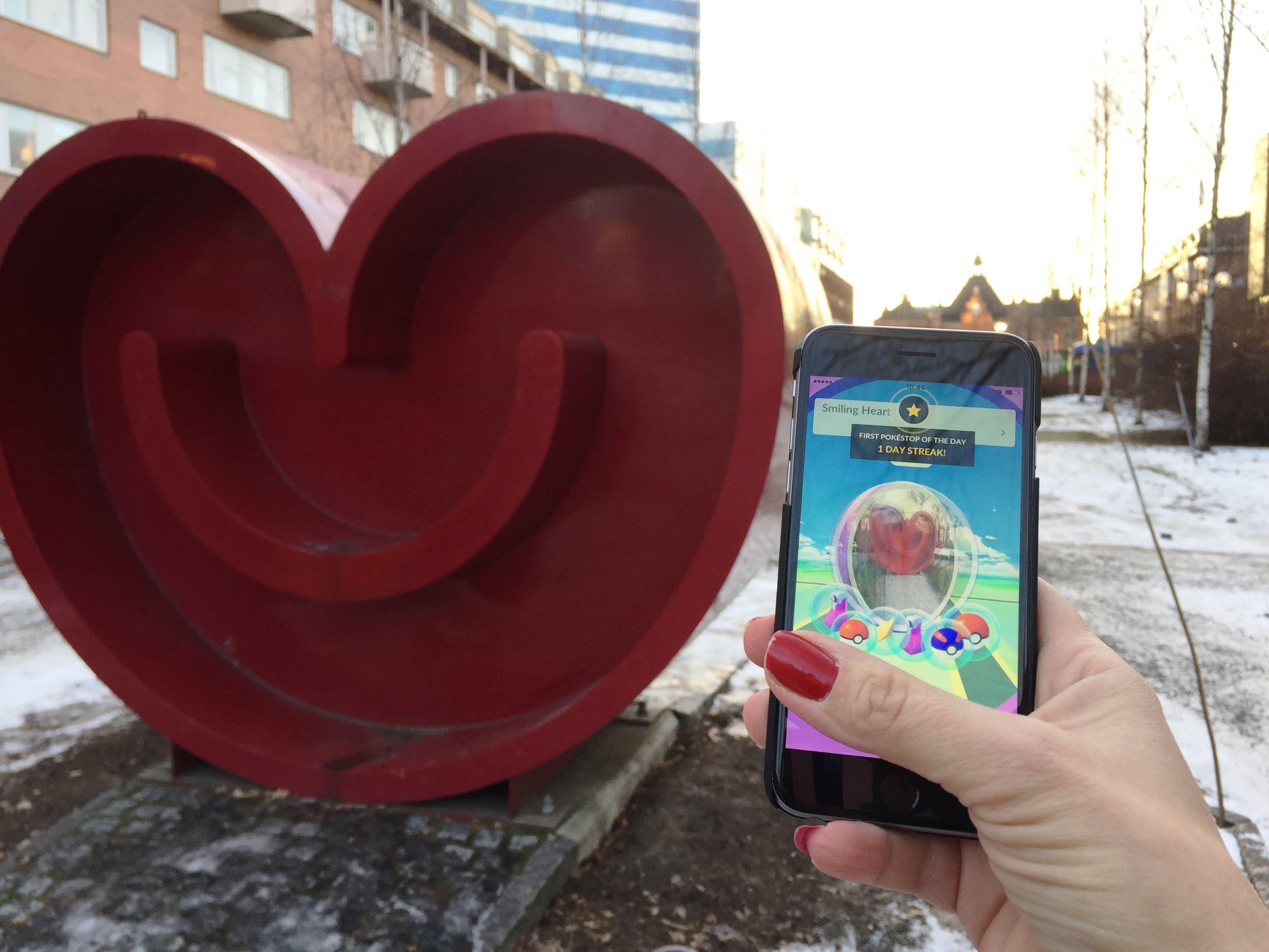 Pokémon Go-promenad