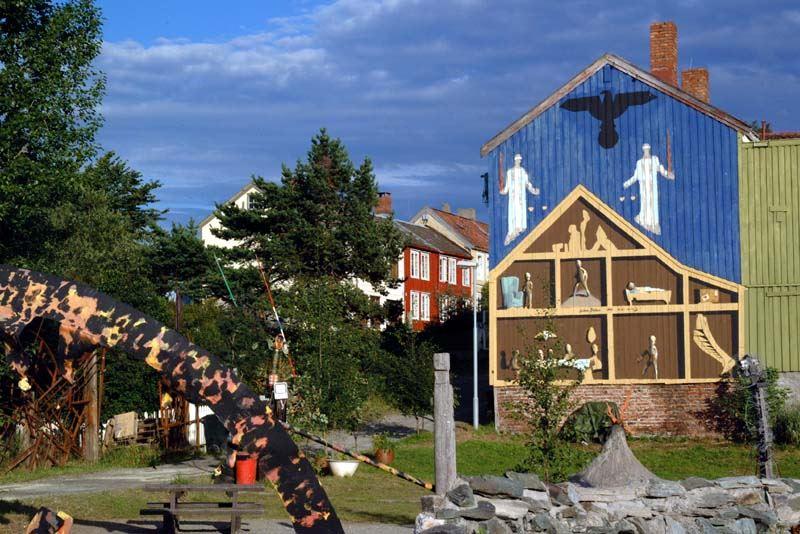 Jørn Adde, Veggmaleri av Håkon Bleken og Håkon Gullvåg på Svartlamon i Trondheim