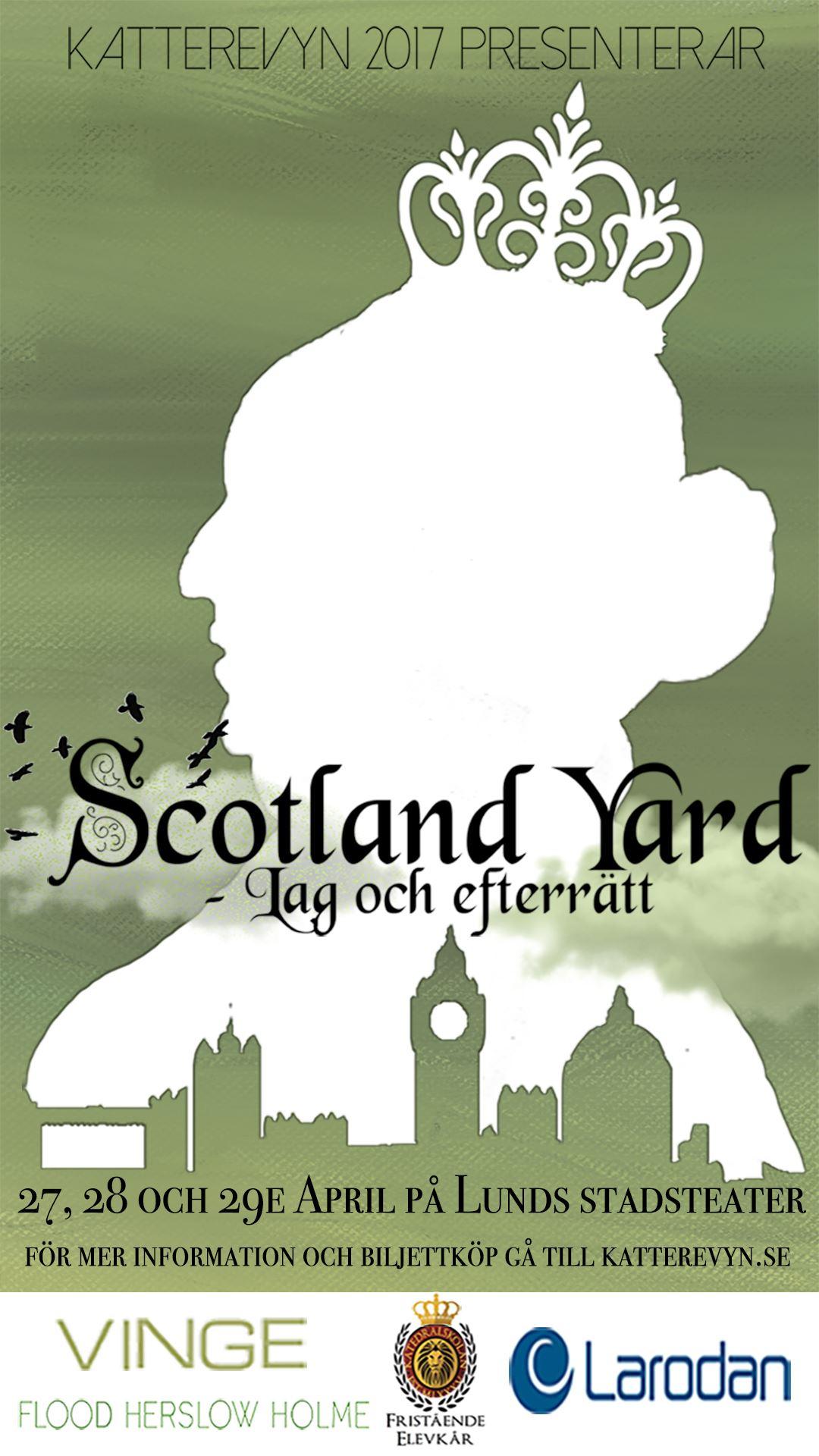 """Katterevyn presenterar """"Scotland Yard - Lag och efterrätt"""""""