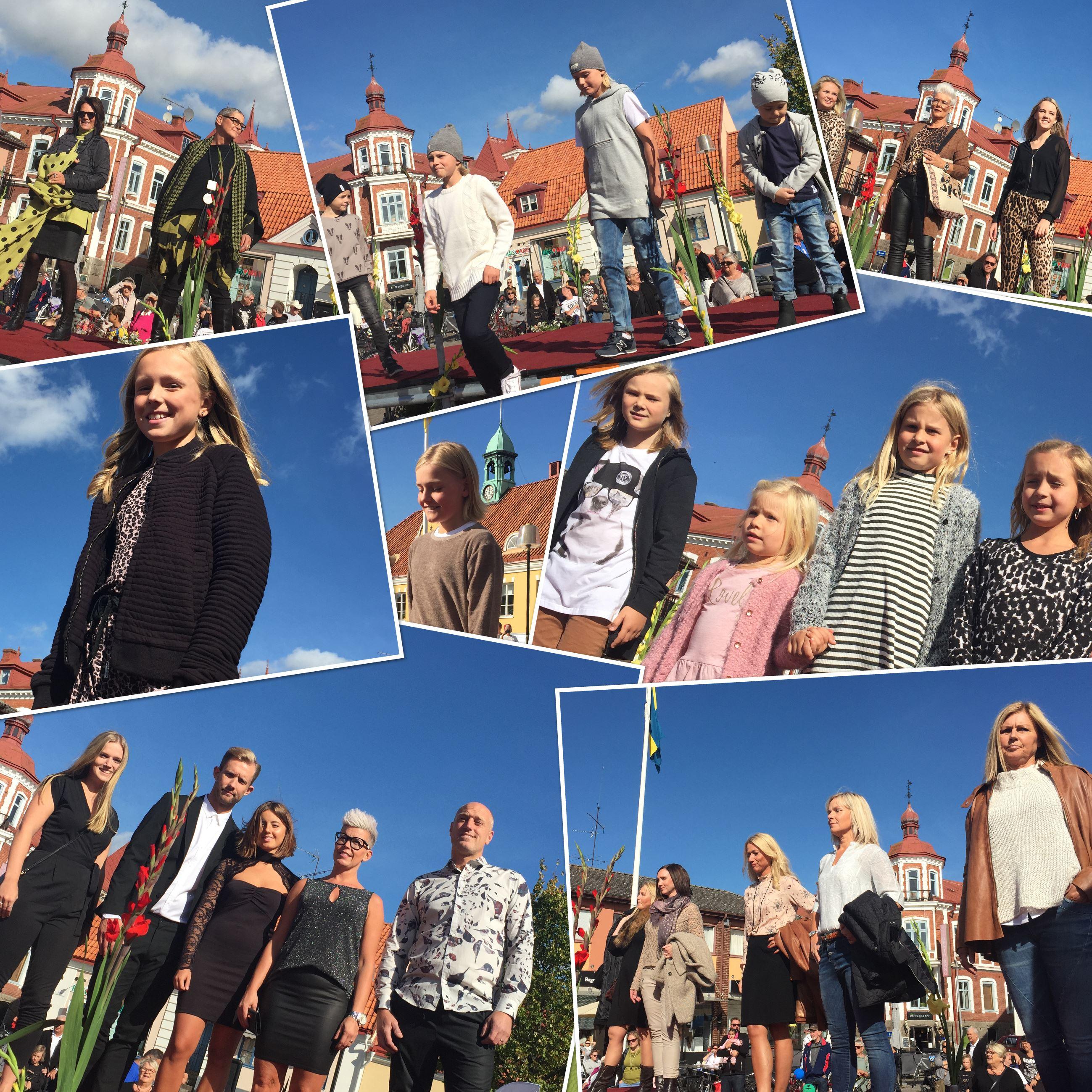 Handelsföreningens modevisning på Stortorget