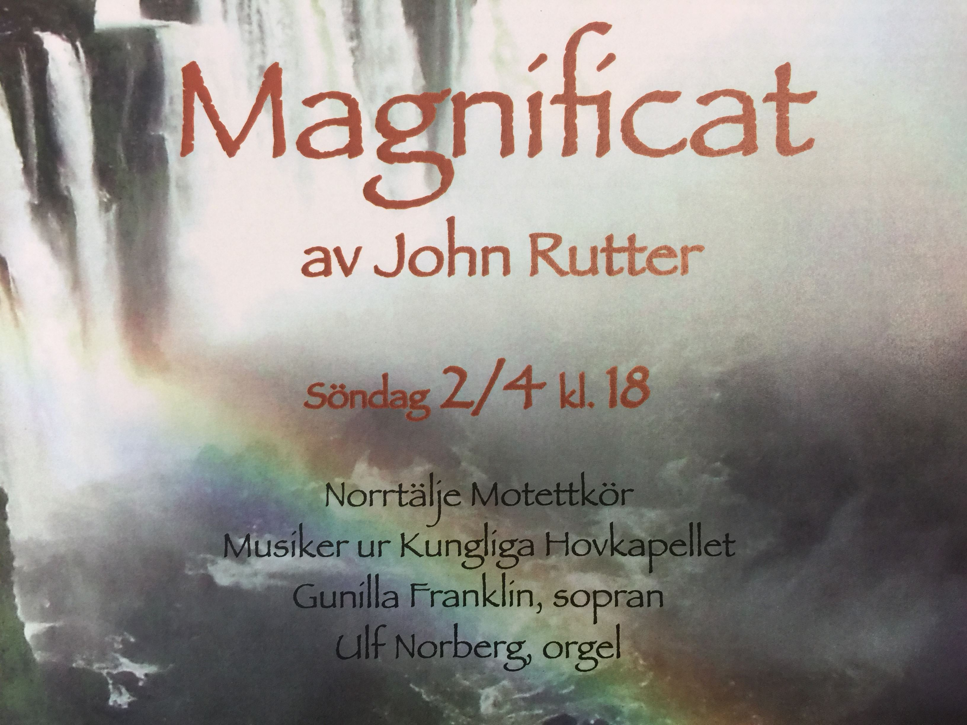 Magnificat - Konsert i Norrtälje kyrka 2/4