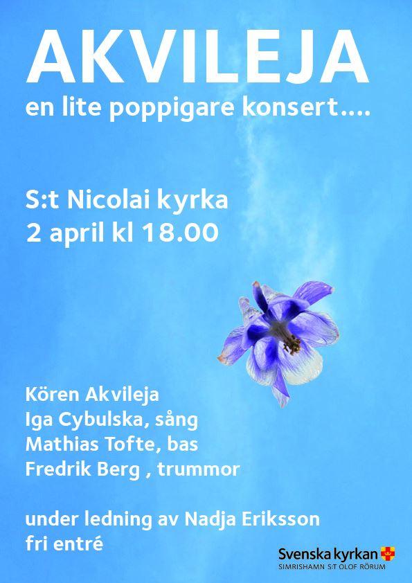 Akvileja - en lite poppigare konsert...