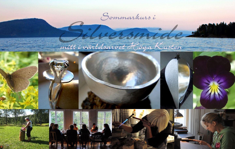 Två sommarkurser i silversmide i Nordingrå, Höga Kusten - inkl. mat och logi