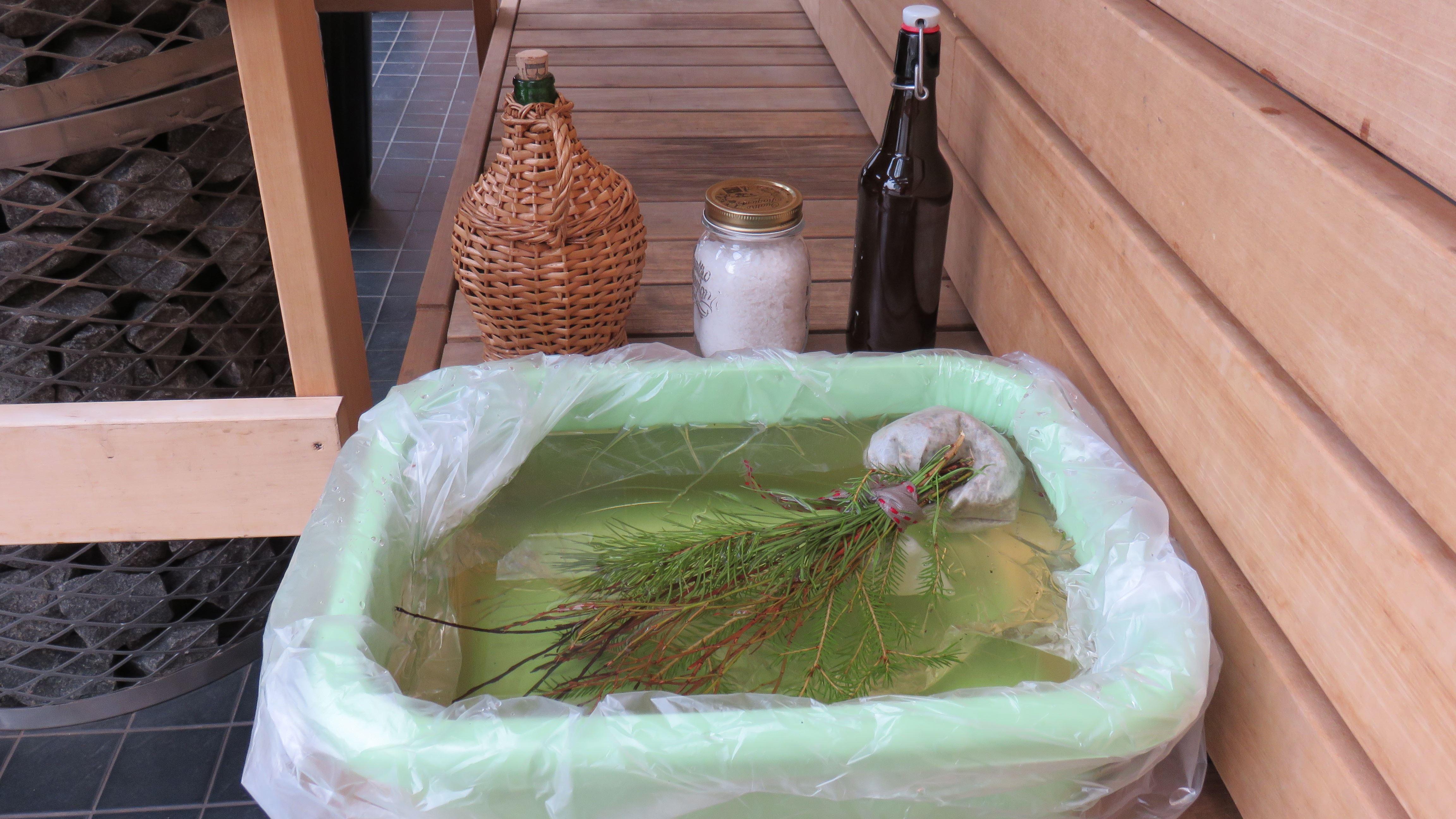 Vellamo's herbal sauna experience