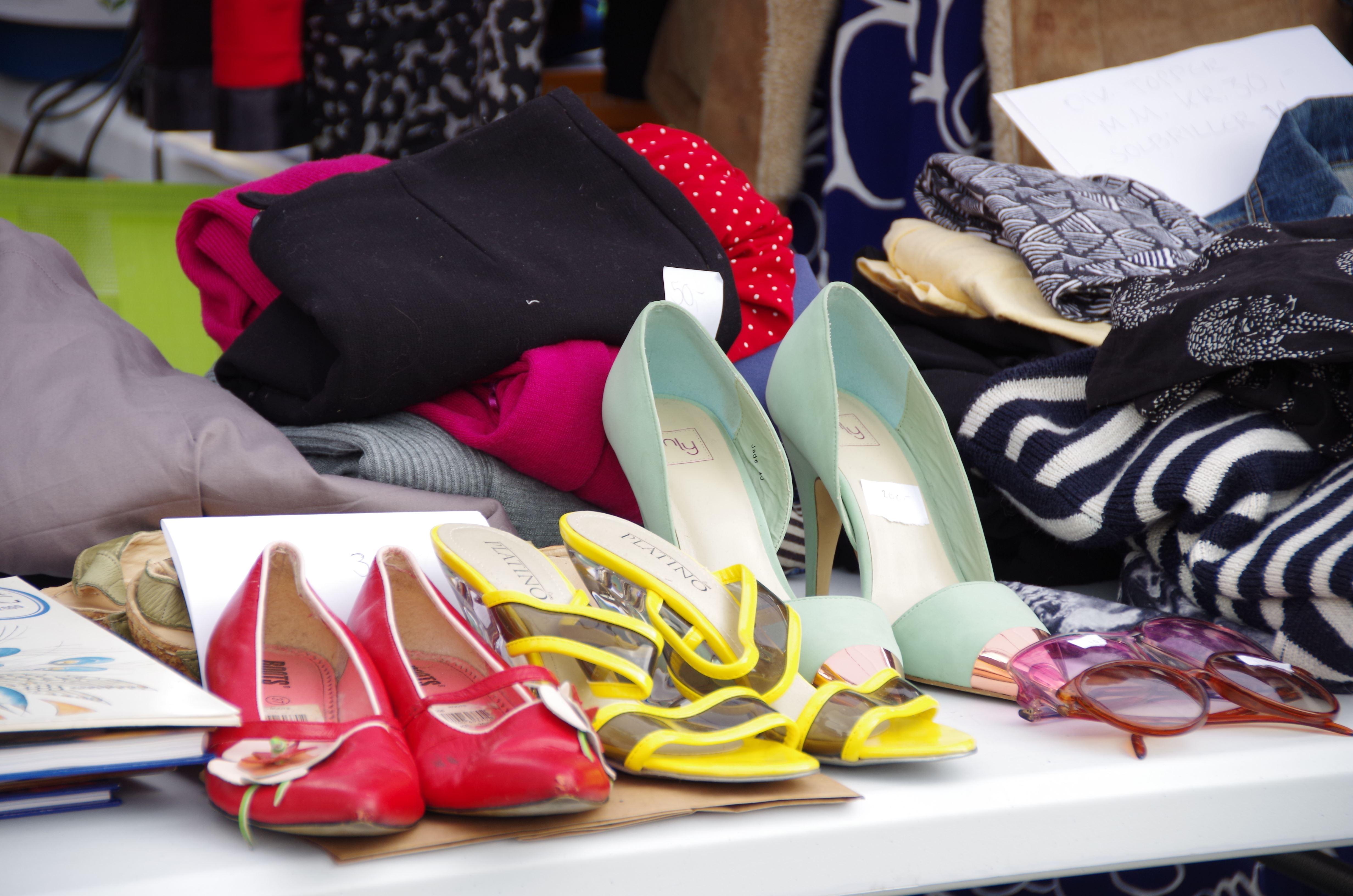 Midtbyen Management, Bord med brukte sko på Bryggerekka Bruktmarked i Trondheim