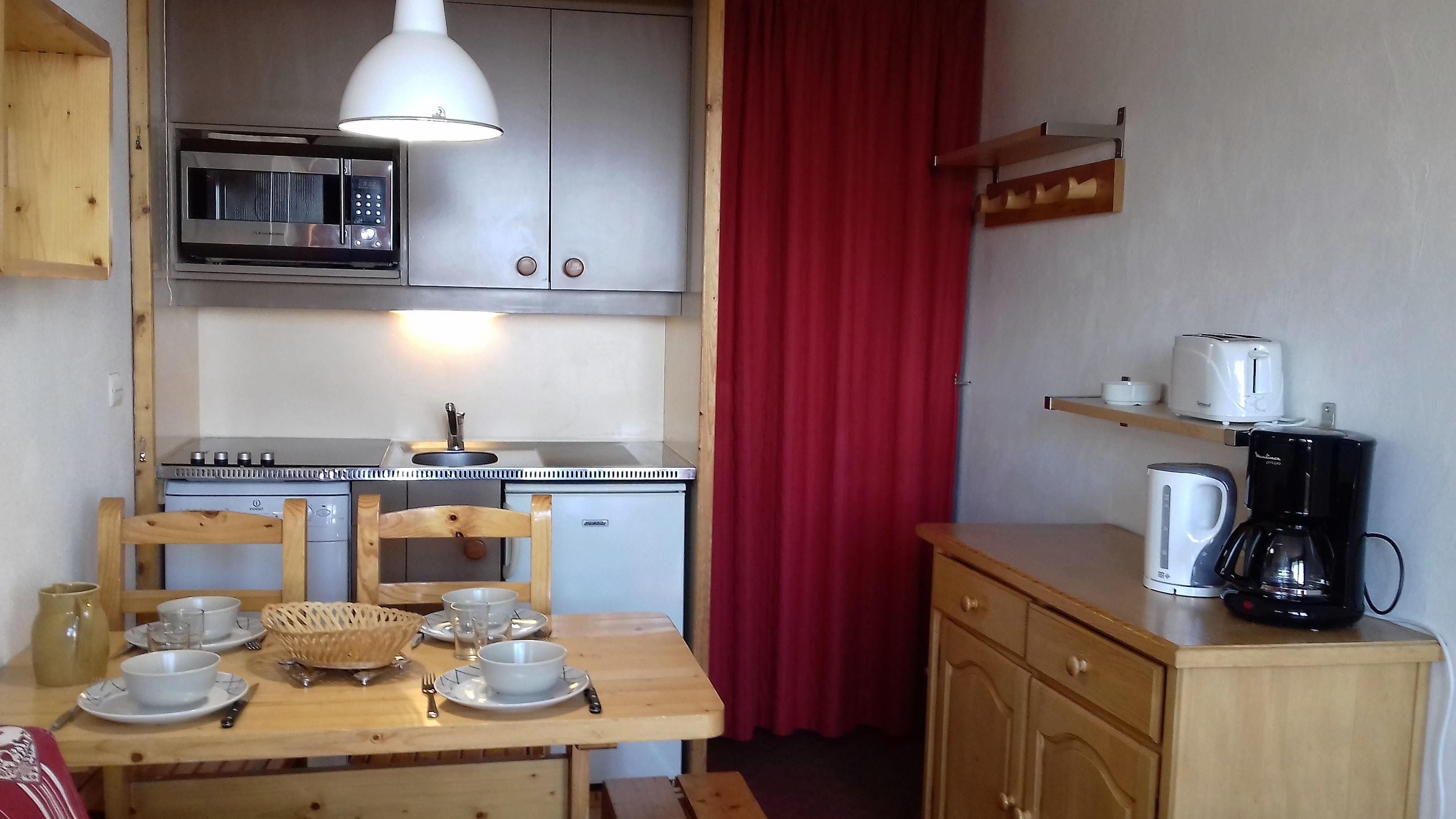 Lauzières 208 > Studio + Cabin - 4 Persons - 1 Bronze Snowflake (MCI)