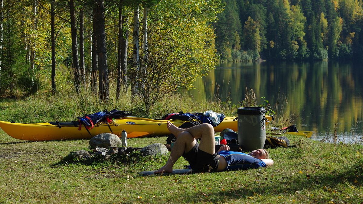 Foto: Lits Camping,  © Copy: Lits Camping, Hyr kanot över dagen och utgå från campingen med kajak eller kanadensare